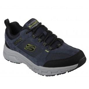 Мъжки спортни обувки Skechers мемори пяна естествена кожа сини
