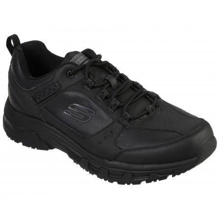Мъжки спортни обувки Skechers черни естествена кожа