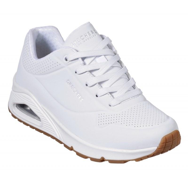 Спортни обувки на платформа Skechers мемори пяна бели