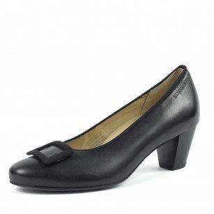 Дамски елегантни обувки Salamander естествена кожа черни