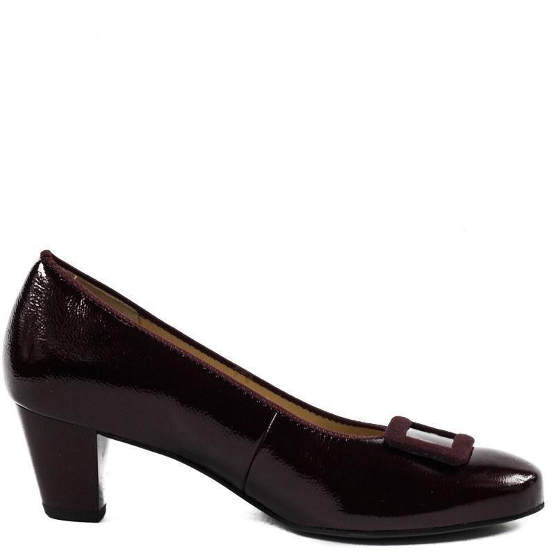 Дамски елегантни обувки Salamander естествена кожа бордо