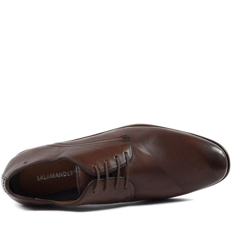 Мъжки елегантни обувки естествен гьон Salamander кафяви