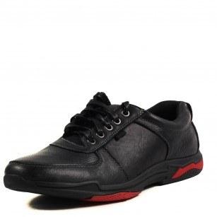 Мъжки спортни обувки с връзки Soho Mayfair естествена кожа черни