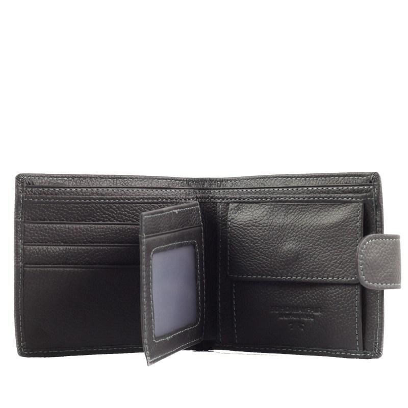 Мъжки портфейл Soho Mayfair естествена кожа черен