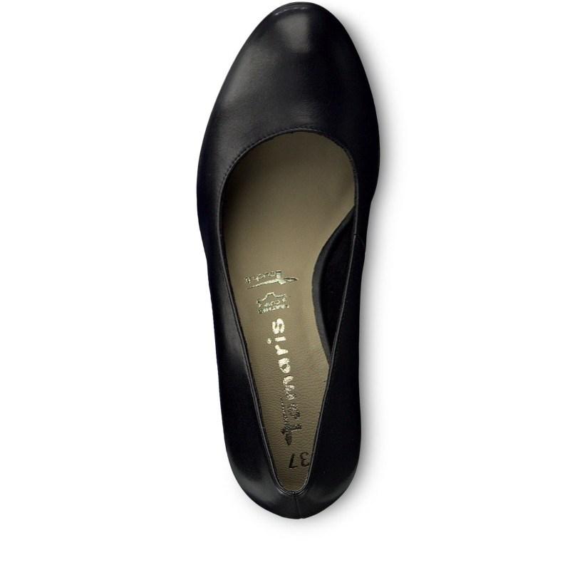 Дамски елегантни обувки Tamaris Touch it естествена кожа черни