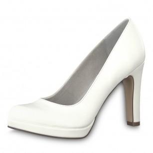 Дамски обувки на висок ток Tamaris мемори пяна бели