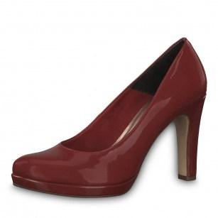 Дамски обувки на висок ток Tamaris мемори пяна червени