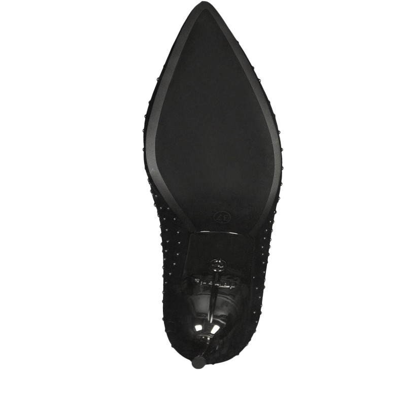 Дамски обувки на висок ток Tamaris естествена кожа мемори пяна черни
