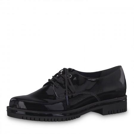 Дамски ежедневни обувки с връзки Tamaris черни