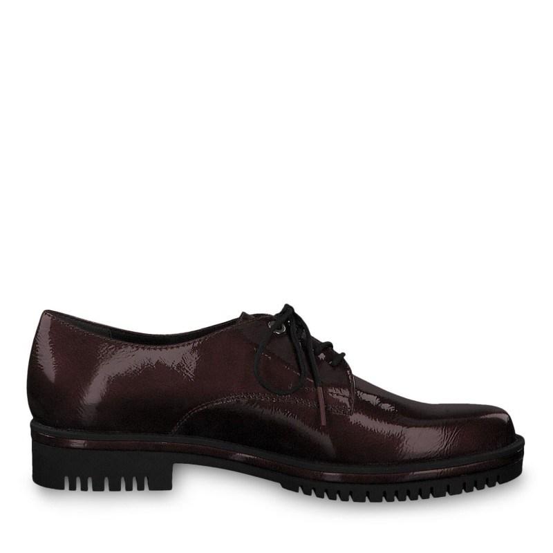 Дамски ежедневни обувки с връзки Tamaris бордо