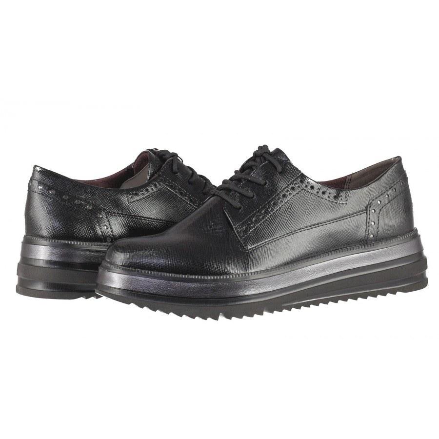 Дамски ежедневни обувки с платформа Tamaris черни