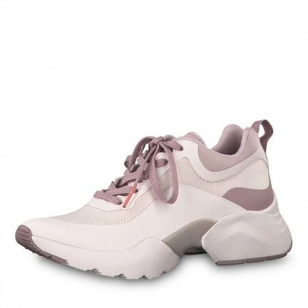 Дамски спортни обувки Tamaris Fashletics с връзки светло розови