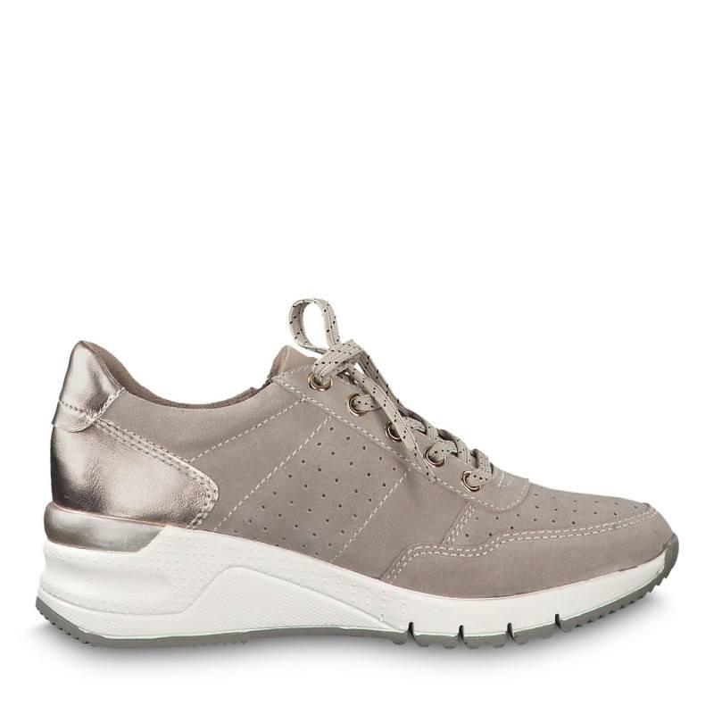 Дамски спортни обувки на платформа Tamaris бежови