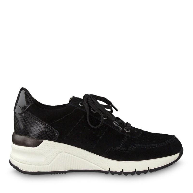 Дамски спортни обувки на платформа Tamaris черни