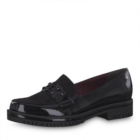 Дамски ежедневни обувки Tamaris мемори пяна черен лак