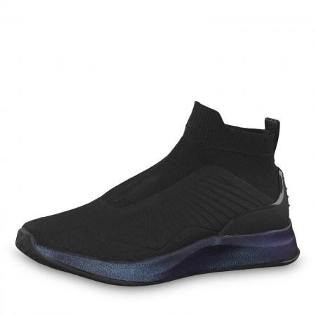 Дамски спортни обувки без връзки Tamaris Fashletics мемори пяна черни