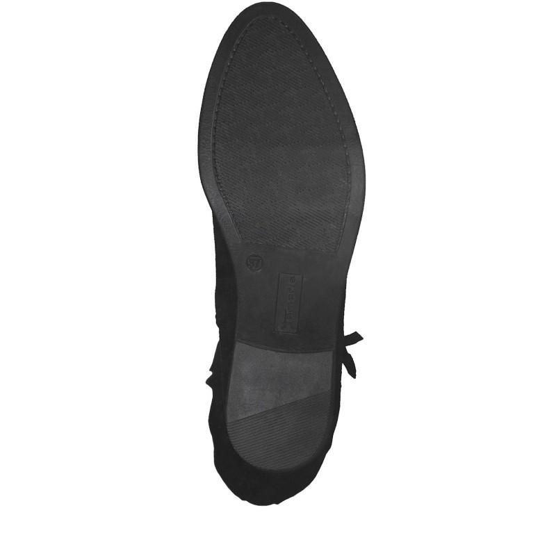 Дамски ежедневни ботуши Tamaris черни естествен велур