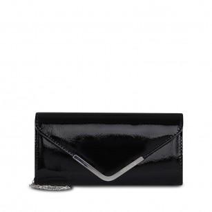Дамска чанта клъч Tamaris черен лак