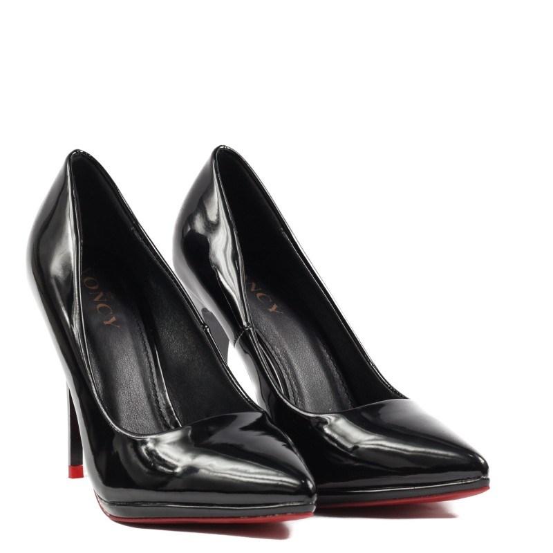 Дамски елегантни обувки Yoncy® черен лак