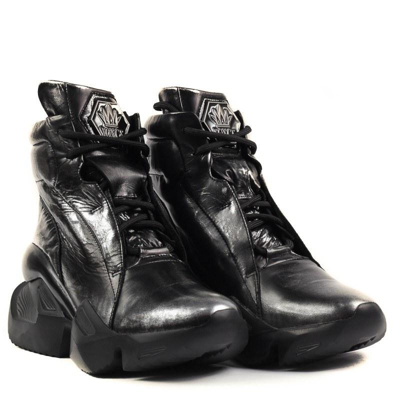 Дамски спортни боти с връзки Yoncy® черни