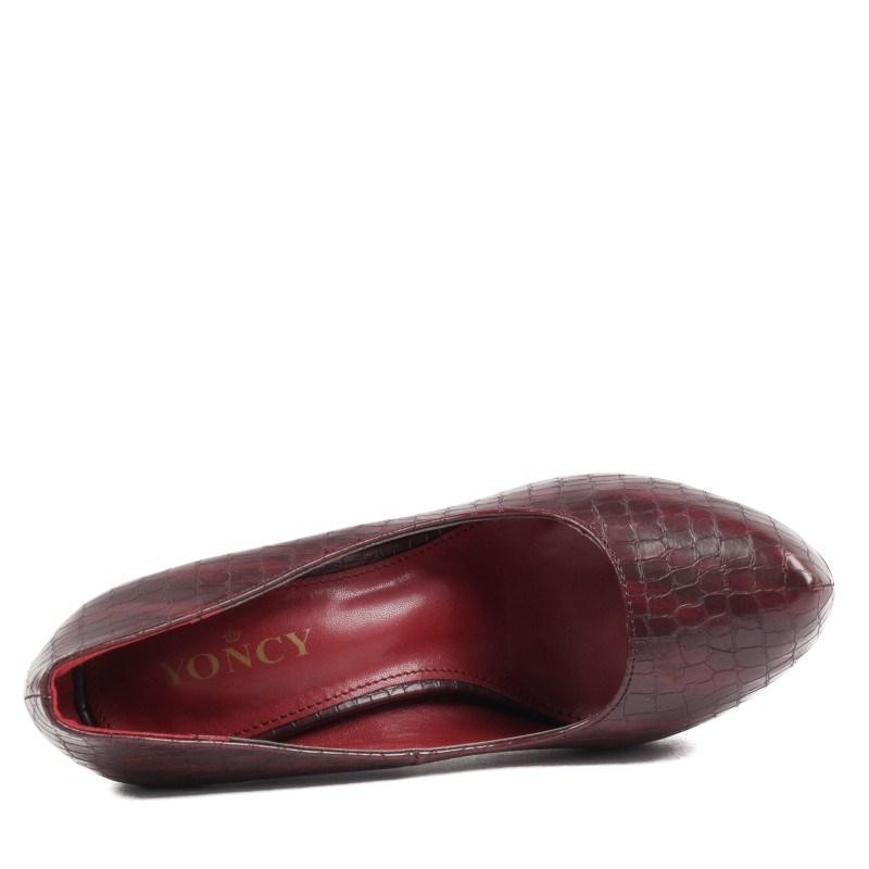 Дамски елегантни обувки Yoncy® бордо