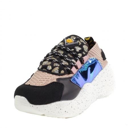 Дамски спортни обувки черни/розови
