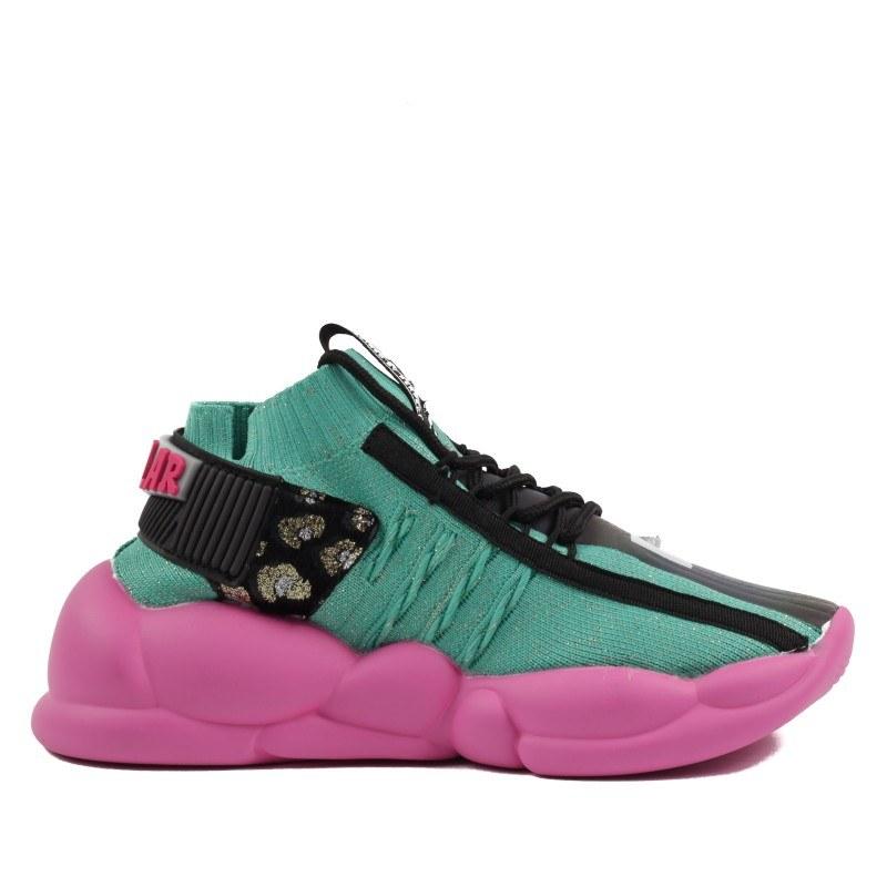 Дамски спортни обувки зелени