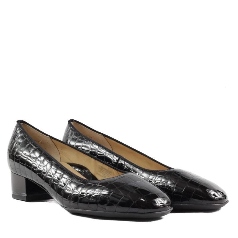 Дамски обувки на ток Ara естесвена кожа черен лак