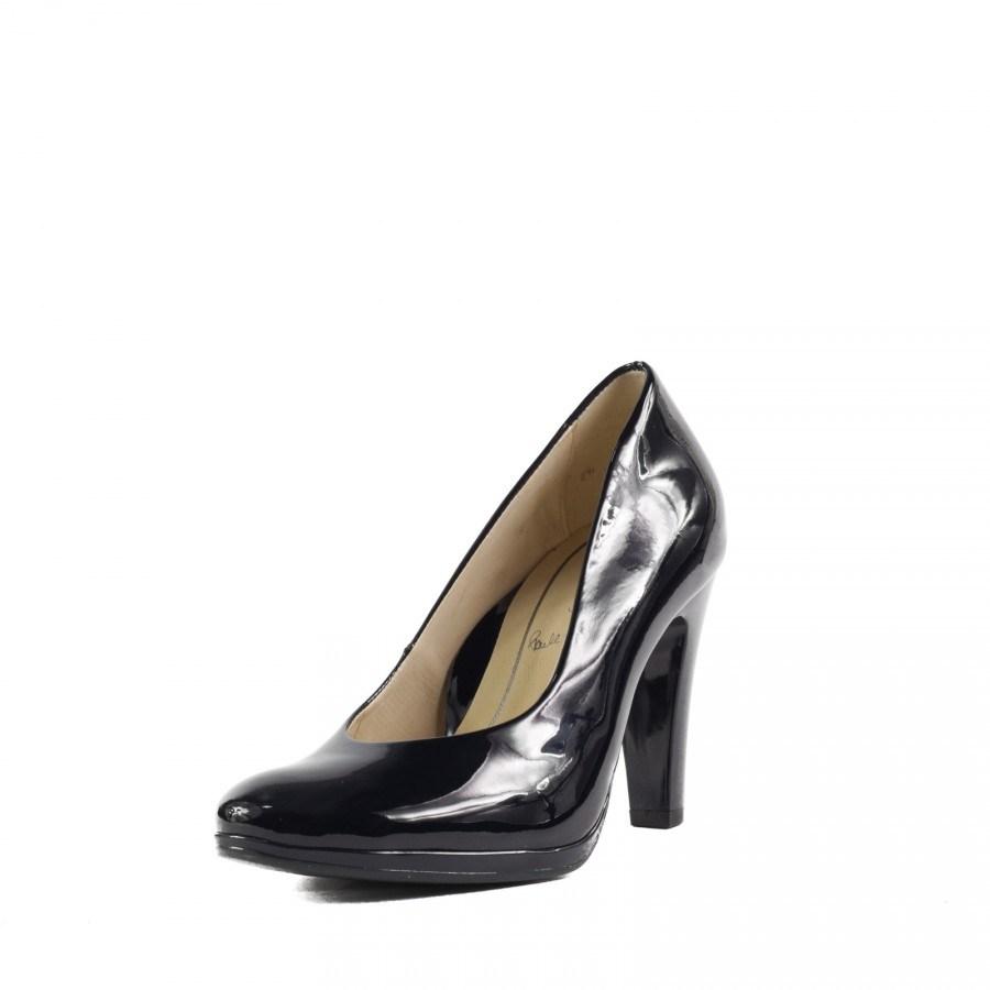 Дамски обувки на висок ток Ara естествена кожа черeн лак ширина F1/2