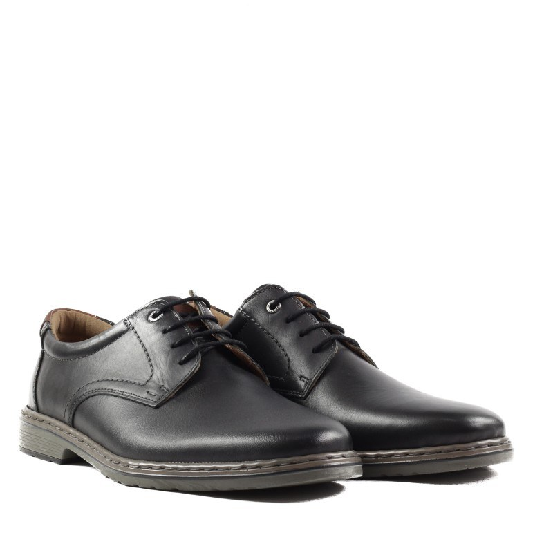 Мъжки обувки  Ara естествена кожа черни