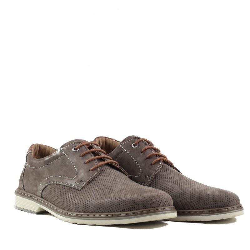 Мъжки обувки от естествена кожа Ara сиви