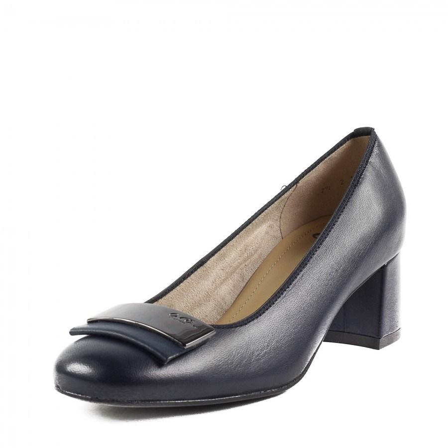 Дамски обувки на нисък ток Ara естествена кожа тъмно сини