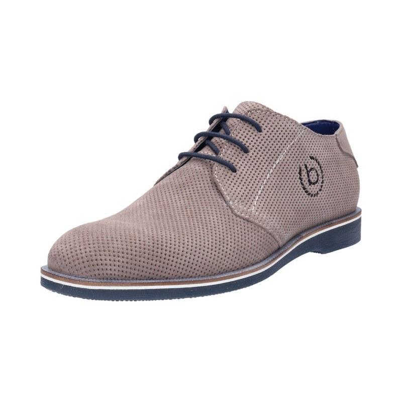 Мъжки обувки с връзки Bugatti® Melchiore II естествена кожа сиви
