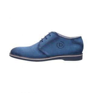 Мъжки обувки с връзки Bugatti® Melchiore II естествена кожа сини