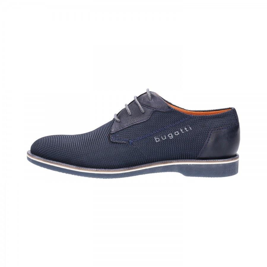 Мъжки обувки с връзки Bugatti® Melchiore I естествена кожа сини