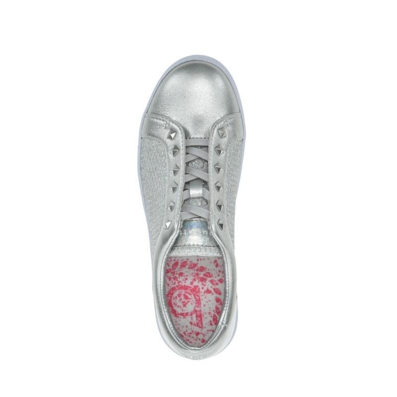 Дамски спортни обувки без връзки Bugatti Elea сребристи