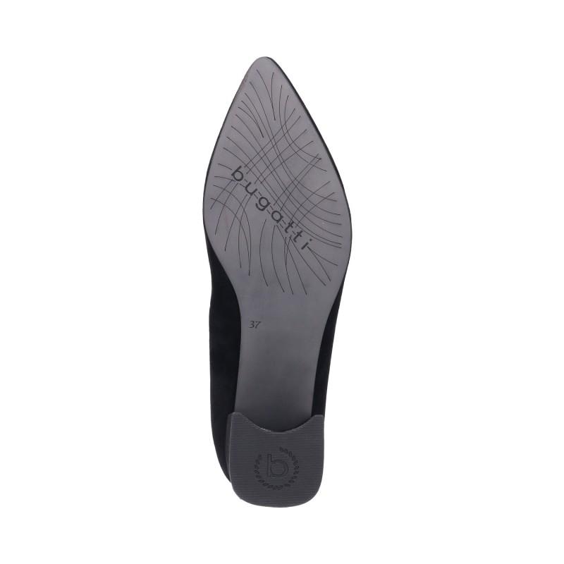 Дамски обувки от естествена кожа на ток Bugatti® Tiana Revo черни