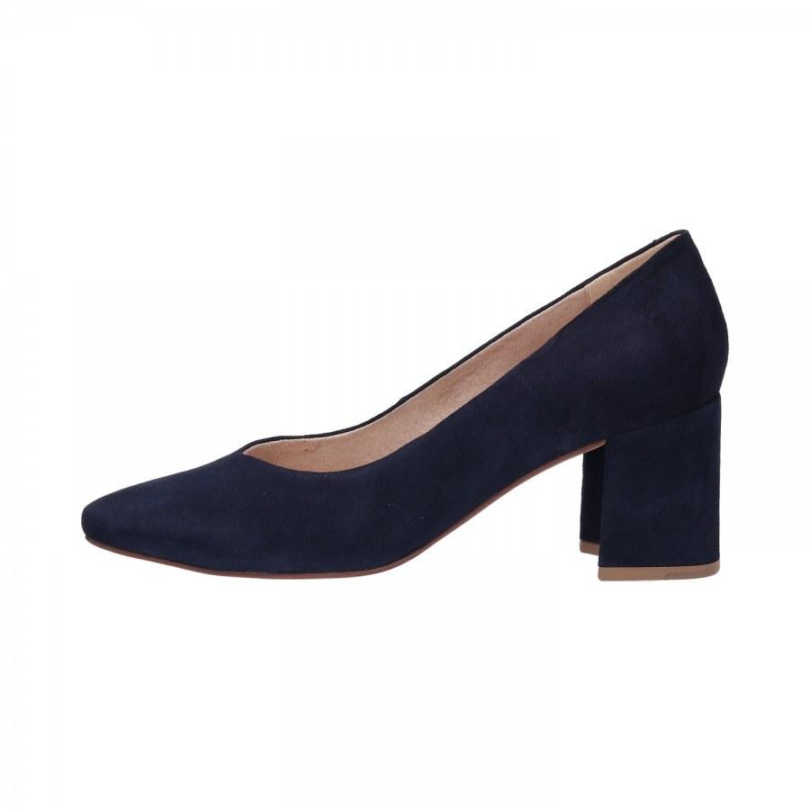 Дамски обувки от естествена кожа на ток Bugatti® Tiana Revo тъмно сини