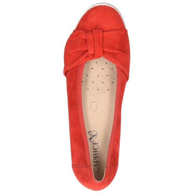Дамски ежедневни обувки Caprice Blue Oxygen естествена кожа червени