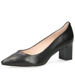 Дамски обувки на ток Caprice Premium естествена кожа черни