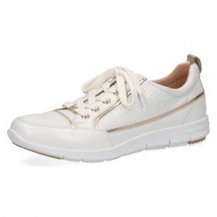 Дамски спортни обувки от естествена кожа Caprice бели
