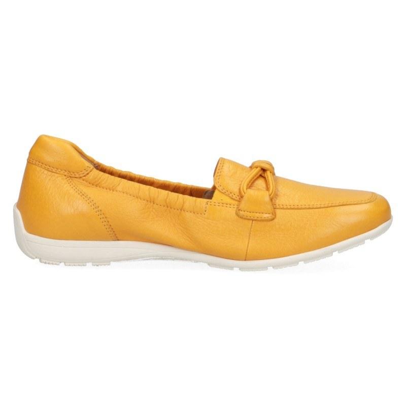 Дамски равни мокасини естествена кожа Caprice On Air жълти