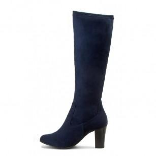 Дамски ботуши с ток Caprice тъмно сини