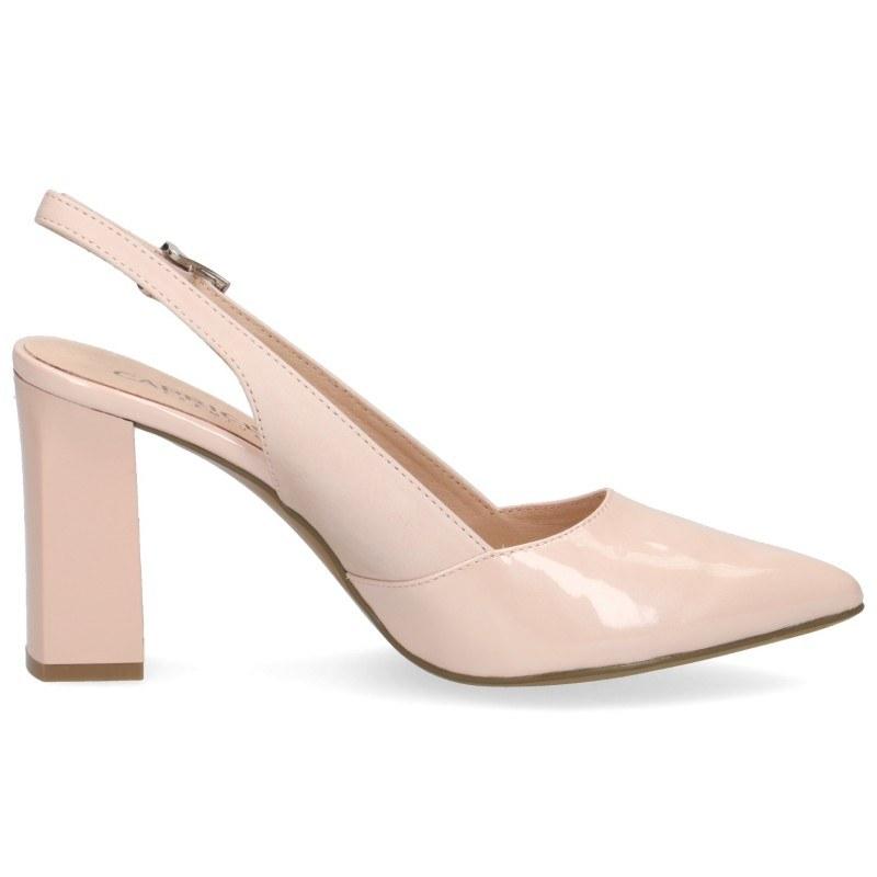 Елегантни дамски обувки на висок ток Caprice естествена кожа розови Premium