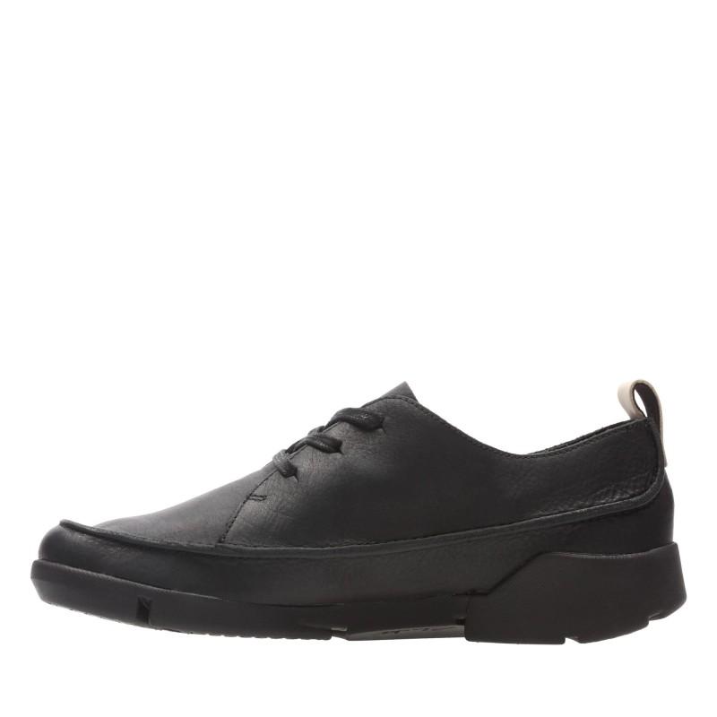 Дамски обувки от естествена кожа Clarks Tri Clara Trigenic черни
