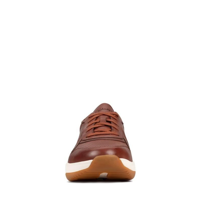Мъжки обувки с връзки Clarks Sift Speed естествена кожа кафяви