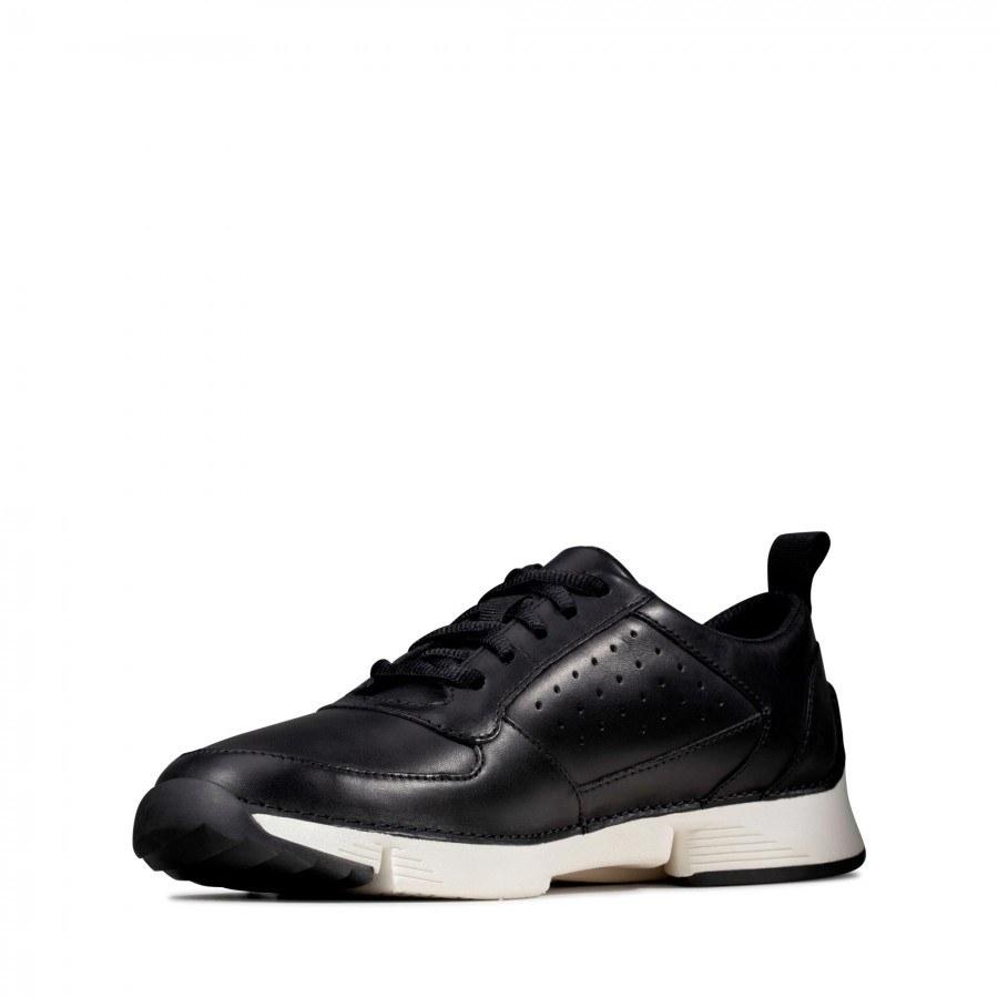 Мъжки обувки от естествена кожа Clarks Tri Sprint Trigenic черни