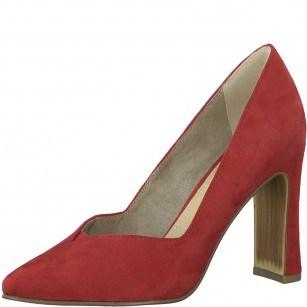 Дамски обувки на висок ток Marco Tozzi червени