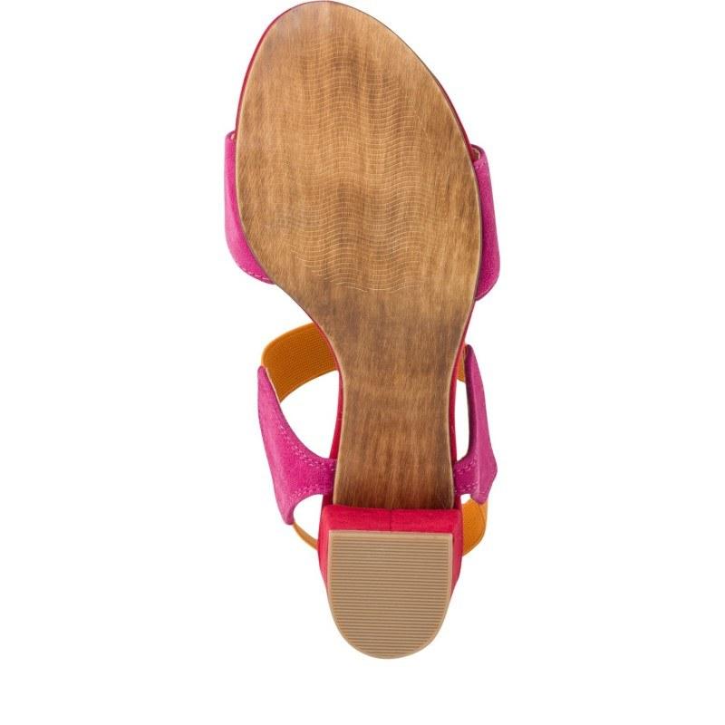 Дамски сандали на ток Marco Tozzi естествена кожа