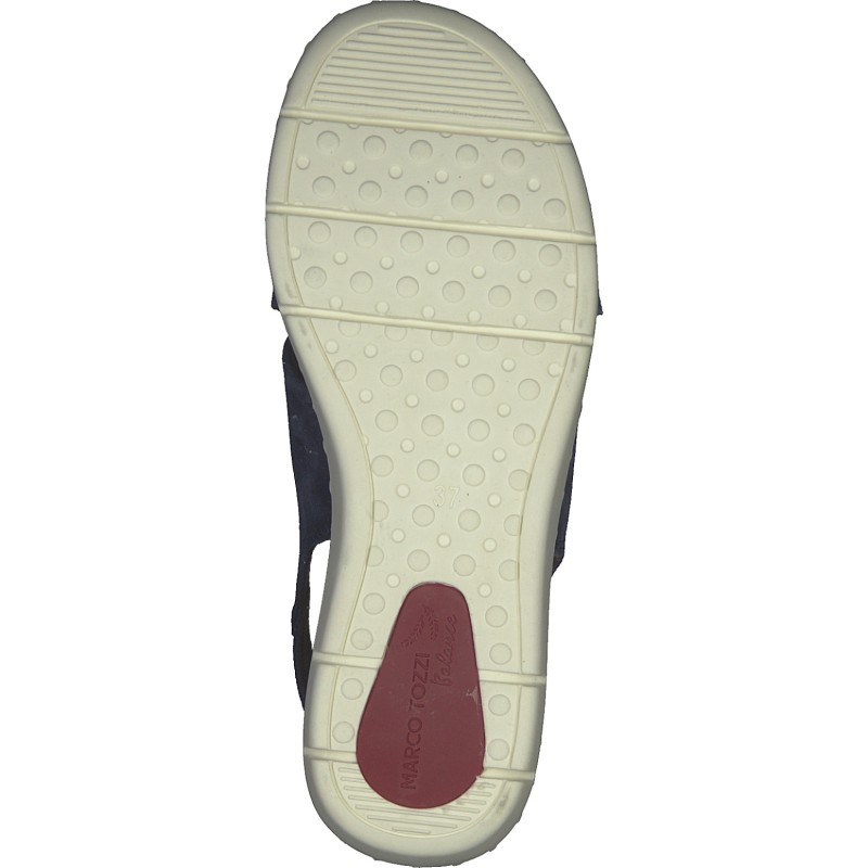 Дамски сандали Marco Tozzi естествена кожа мемори пяна сини
